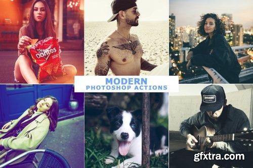 CreativeMarket - 40 Modern Photoshop Actions 4 4666765