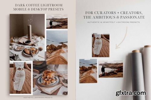 CreativeMarket - Dark Coffee Lightroom Presets 5269263
