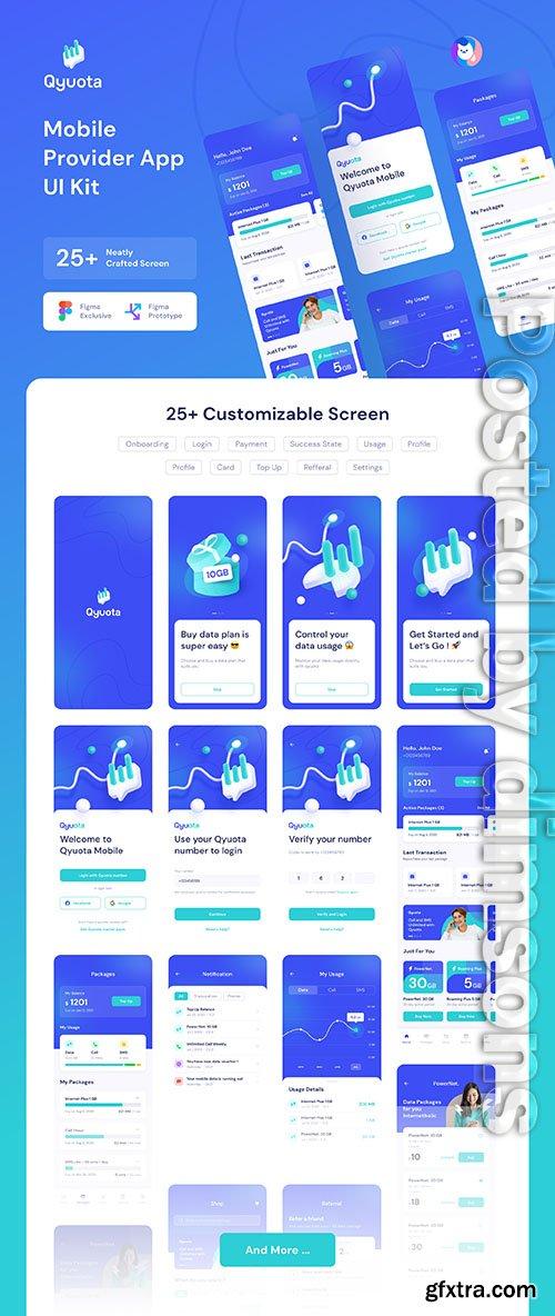 Qyuota Mobile Provider App UI Kit