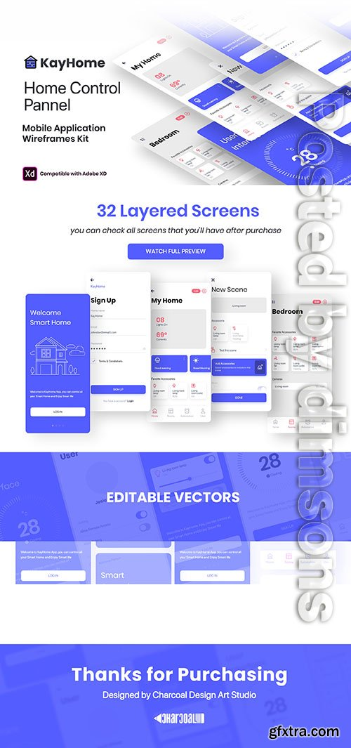 KayHome Mobile Application – Wire frame UI Kit