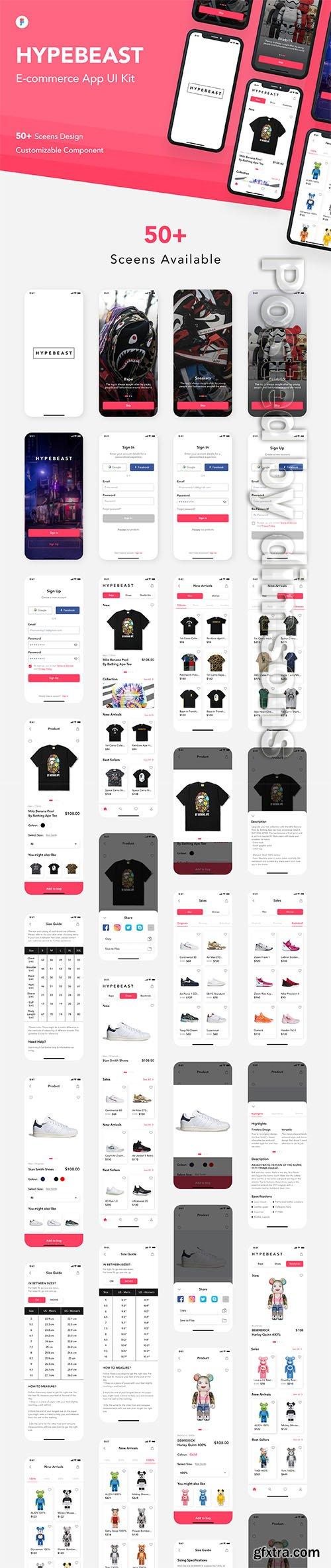 HypeBeast - E-commerce App UI Kit