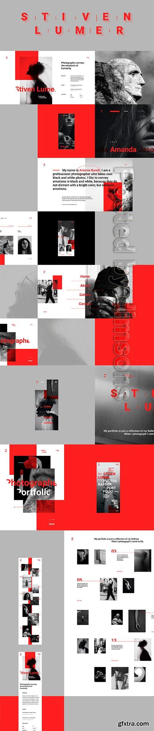 Stiven Lumer Portfolio UI Kit