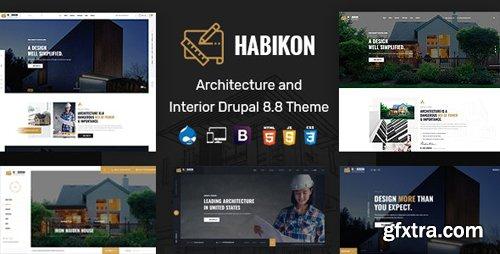 ThemeForest - Habikon v1.0 - Architecture & Interior Drupal 8.8 Theme - 26140493