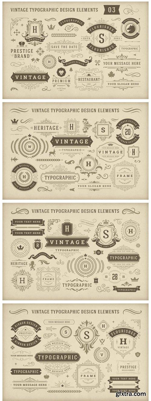Vintage Typographic Design Elements 4956721