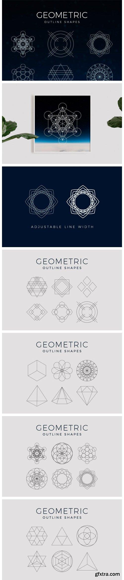 Geometric Outline Clipart Shapes 5050774