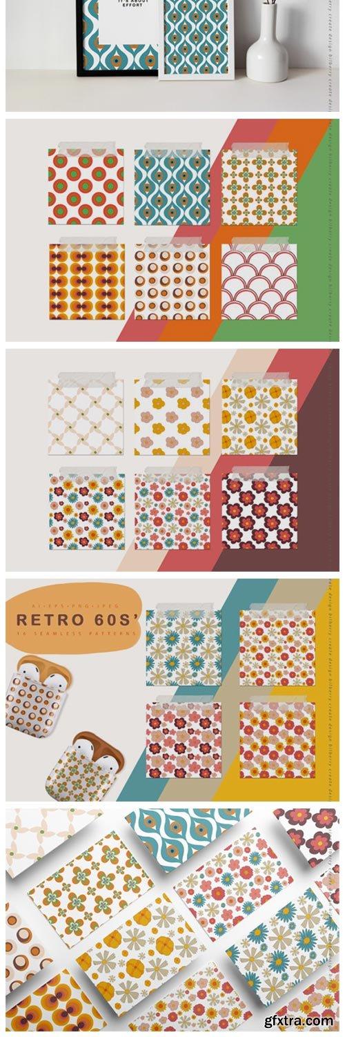 Retro 60s Seamless Pattern 5062405