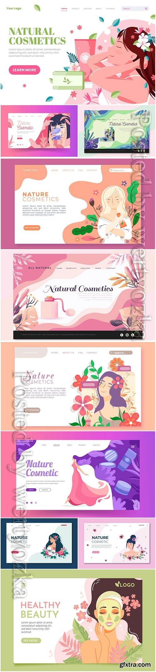 Nature cosmetics landing page