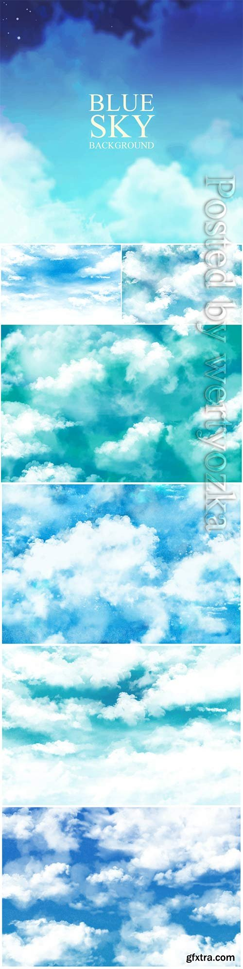 Sky paint texture vector background