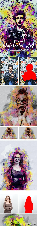 GraphicRiver - Dynamics Watercolor Art Photoshop action 27166768