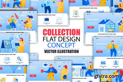 Collection Landing Page Template whith People