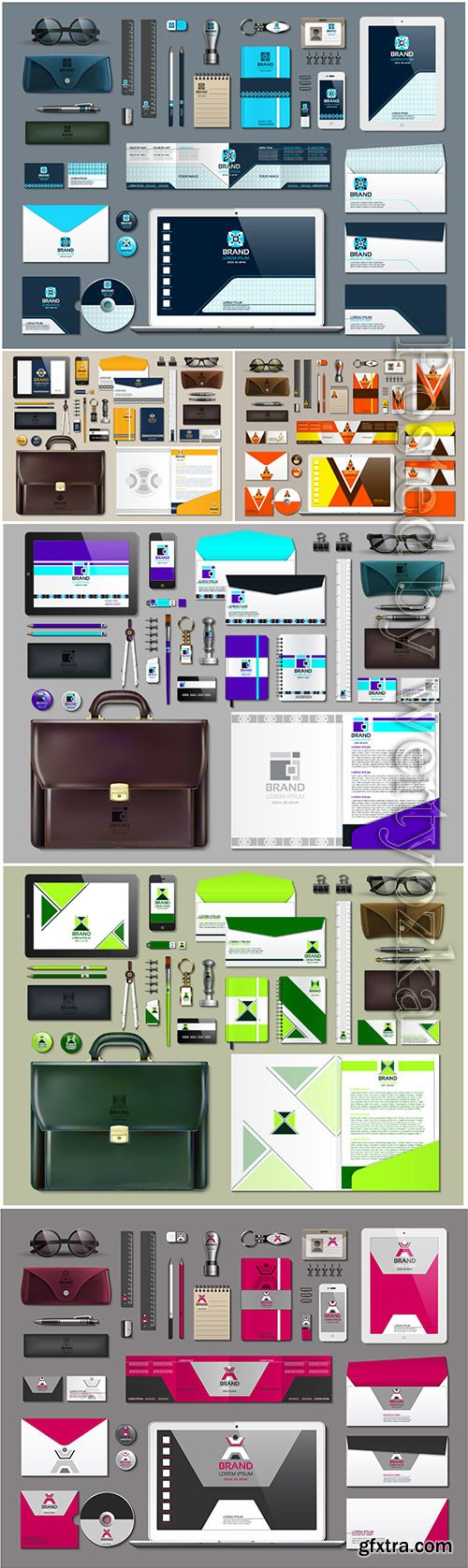 Business stationery with vector design