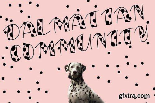 My Friend Dalmatian Display Font