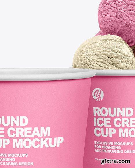 Paper Ice Cream Cups Mockup 66155