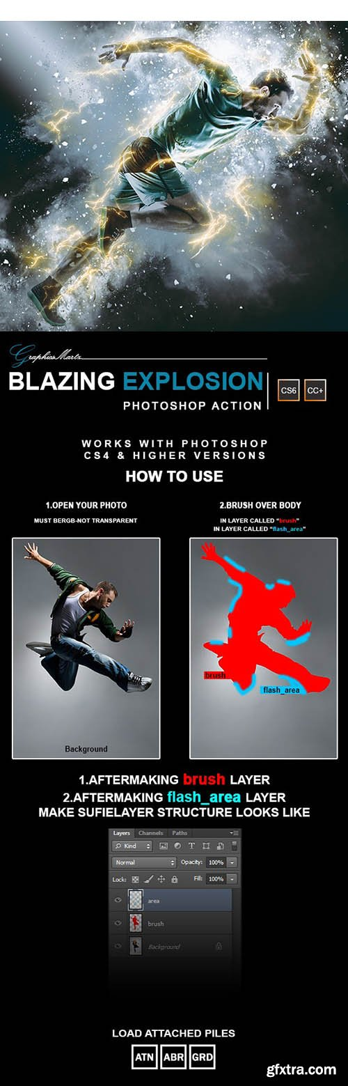 GraphicRiver - Blazing Explosion Photoshop Action 28269901
