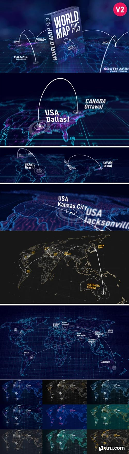 Videohive - World Map Rig V2 - 27809779