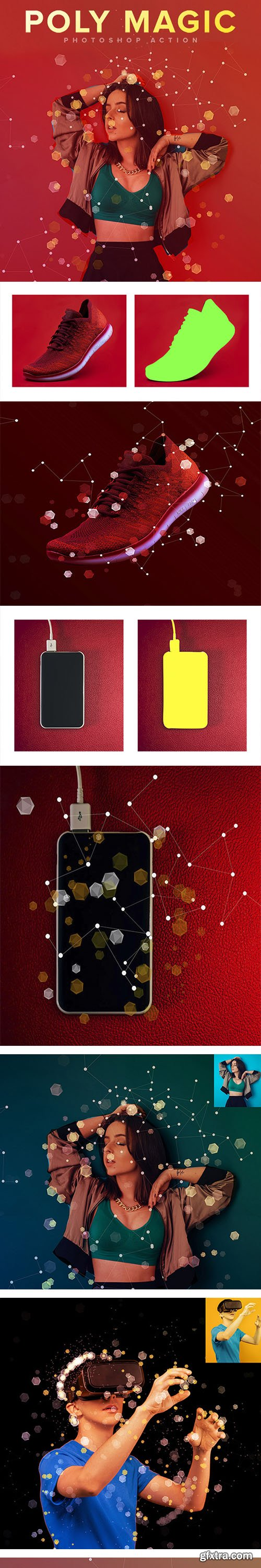 GraphicRiver - Poly Magic Photoshop Action 27706666