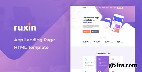 ThemeForest - Ruxin v1.0 - App Landing Page HTML Template - 28164889