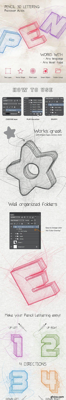 GraphicRiver - Pencil 3D Lettering - Photoshop Action 28400095