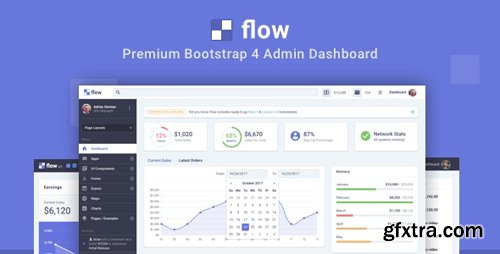 ThemeForest - Flow Pro v1.2.2 - Bootstrap 4 Admin Dashboard - 20980351