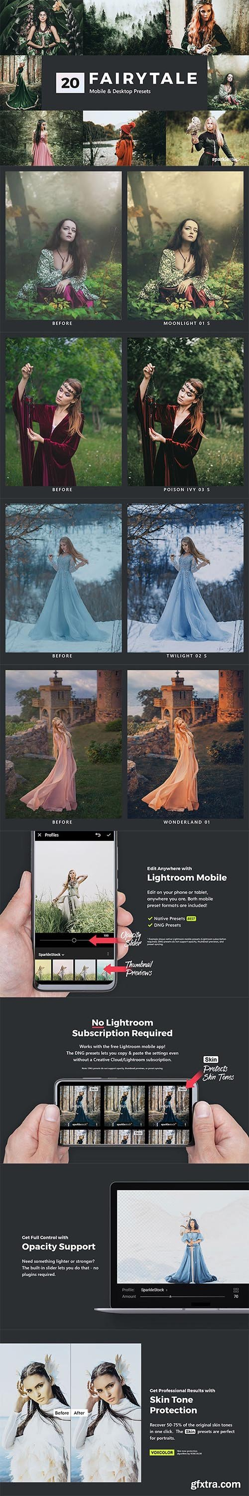 GraphicRiver - 20 Fairytale Lightroom Presets & LUTs 28334845