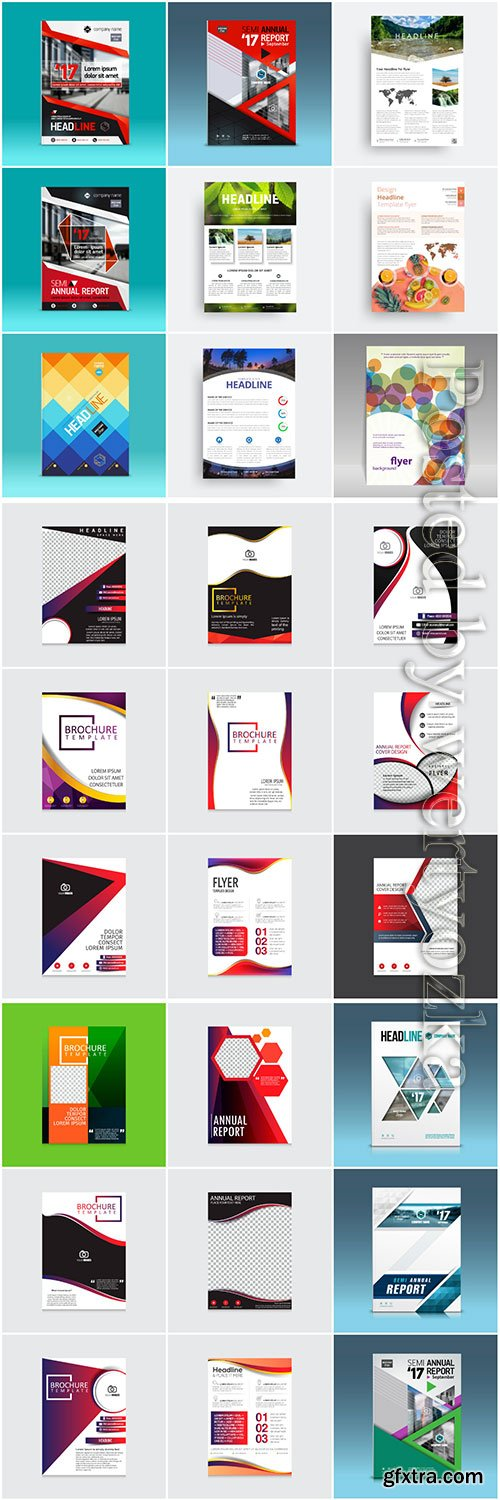 Brochures collection in vector, business name for company # 3