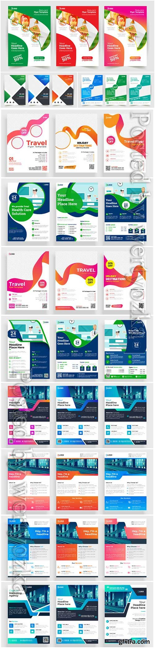 Business brochures template design with abstract concept