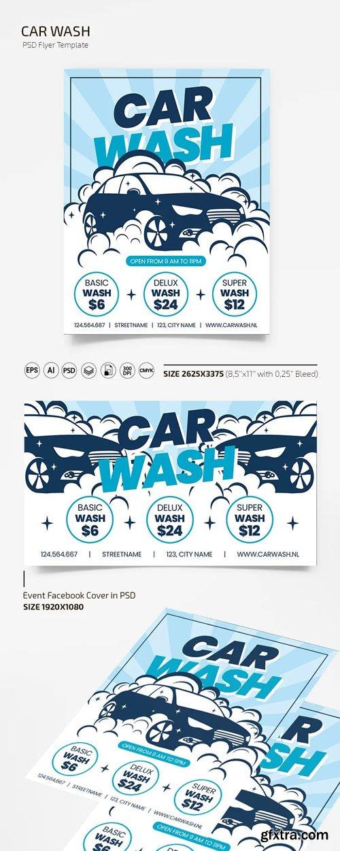 Car Wash (PSD/Ai) Flyer Template