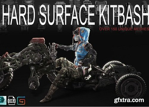 Hard Surface Kitbash Volume 1 - Over 150 Unique Meshes