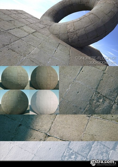 CONCRETE FLOOR 01 PBR Textures