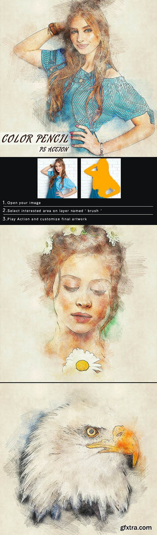 GraphicRiver - Color Pencil Photoshop Action 28081085