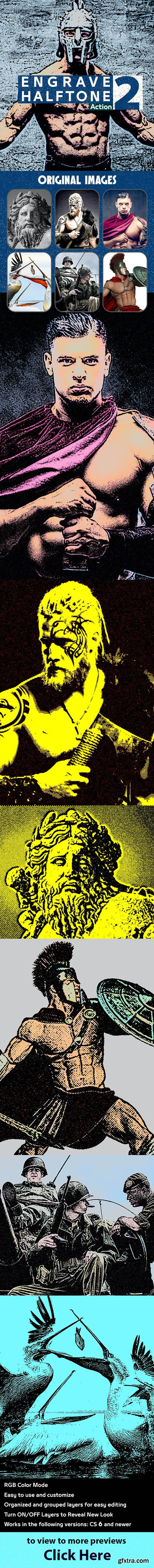 GraphicRiver - Engrave Halftone Action 2 28118009