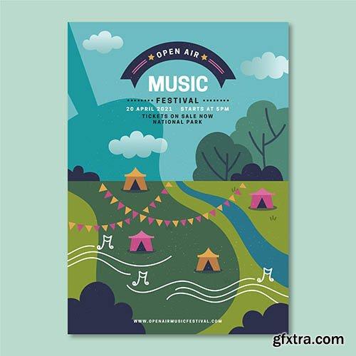 Open Air Music Festival Poster