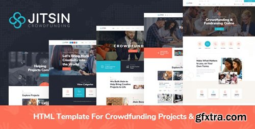 ThemeForest - Jitsin v1.0 - HTML Template For Crowdfunding Projects & Charity - 28299697