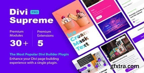 Divi Supreme Pro v3.6.7 - Custom & Creative Divi Modules To Help You Build Amazing Websites