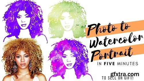 Design PERSONALIZED WATERCOLOR portraits of people!   From photograph to digital Etsy Product