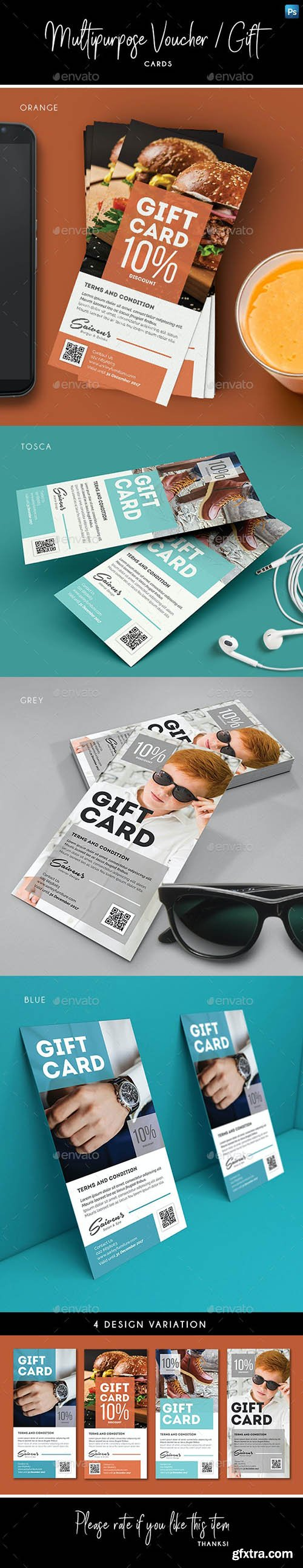 GraphicRiver - Multipurpose Voucher / Gift Card 27924838