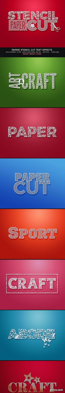 GraphicRiver - Paper Cut/Stencil Cut Text Effect 28059651