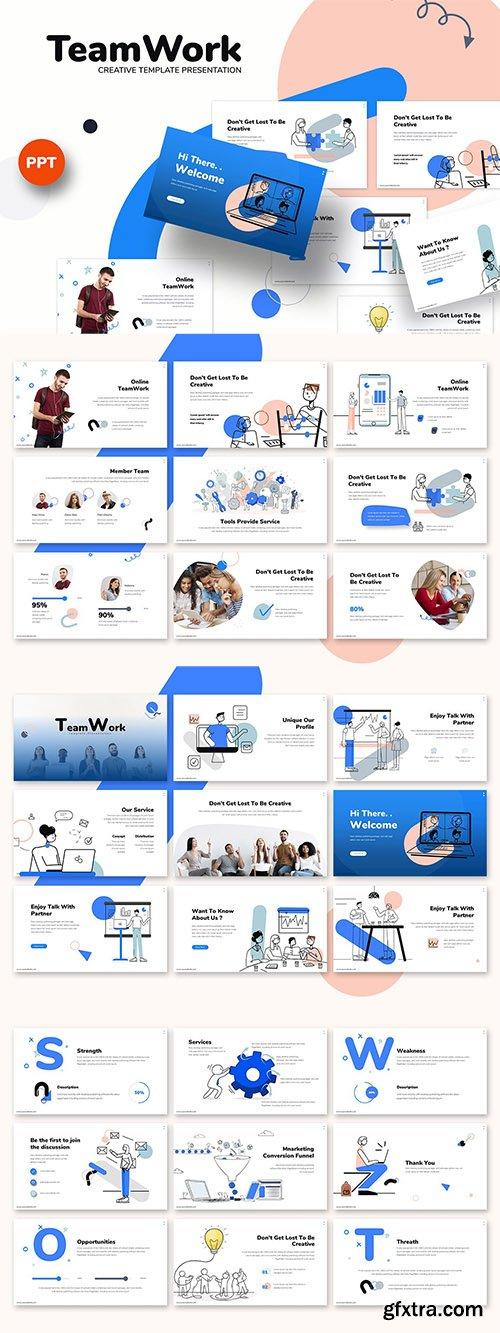Teamwork - Business Powerpoint, Keynote and Google Slides