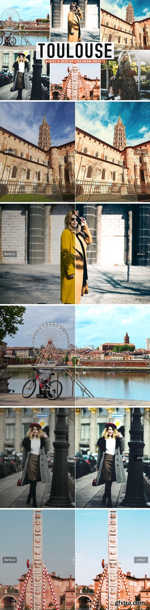 Toulouse Mobile & Desktop Lightroom Presets