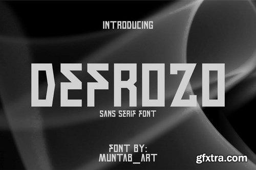 Defrozo Block Font