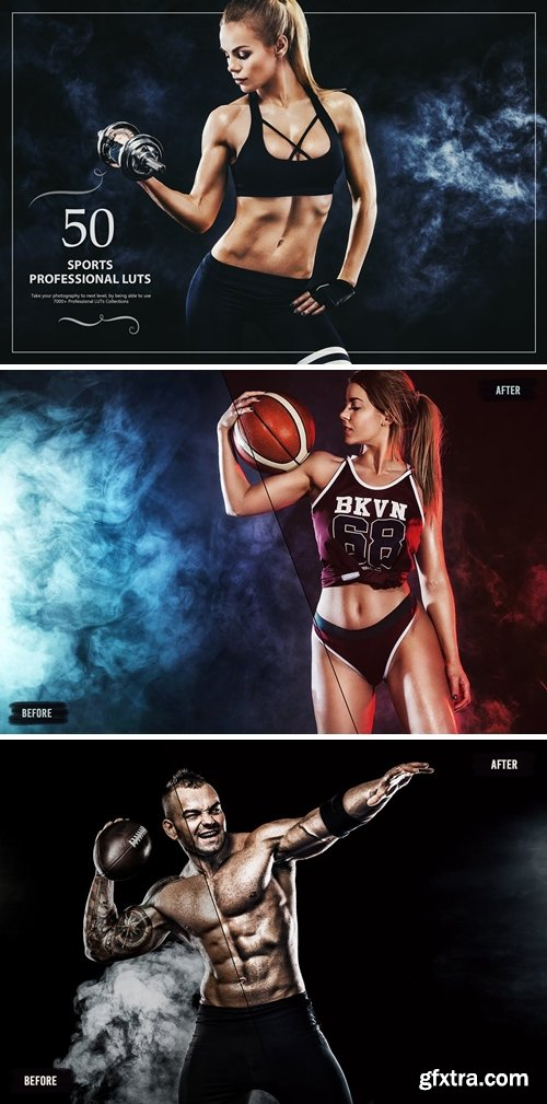 50 Sports LUTs (Look Up Tables)
