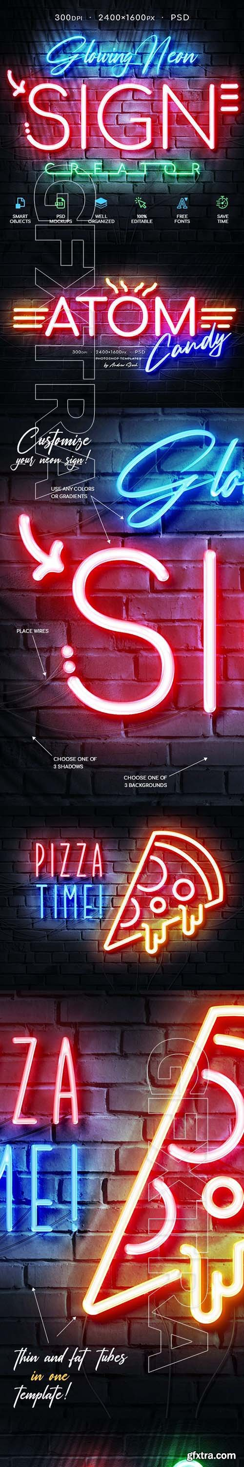 GraphicRiver - Glowing Neon Sign 28521582