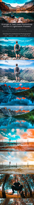 GraphicRiver - Orange & Teal Look Photoshop Action & Lightroom Presets 28205906