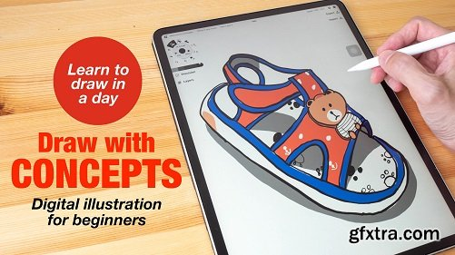 Draw with Concepts app: Basic Digital Illustration for Beginners