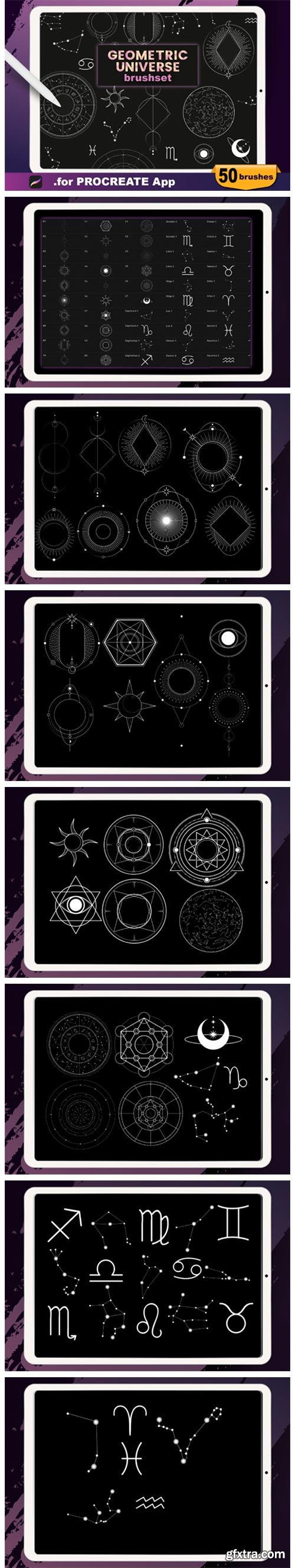 Procreate - Geometric Universe Stamps 4697873