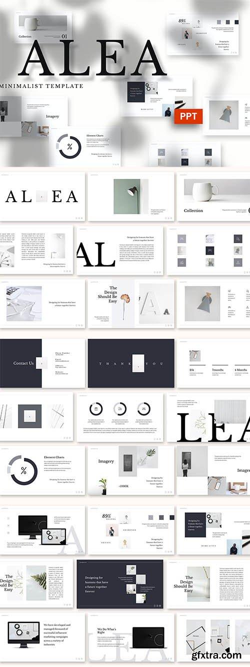 Alea - Minimalist Powerpoint, Keynote and Google Slides