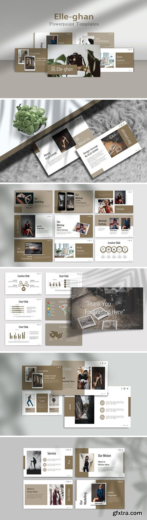 ELLE-GHAN - Photography Powerpoint, Keynote and Google Slides Templates