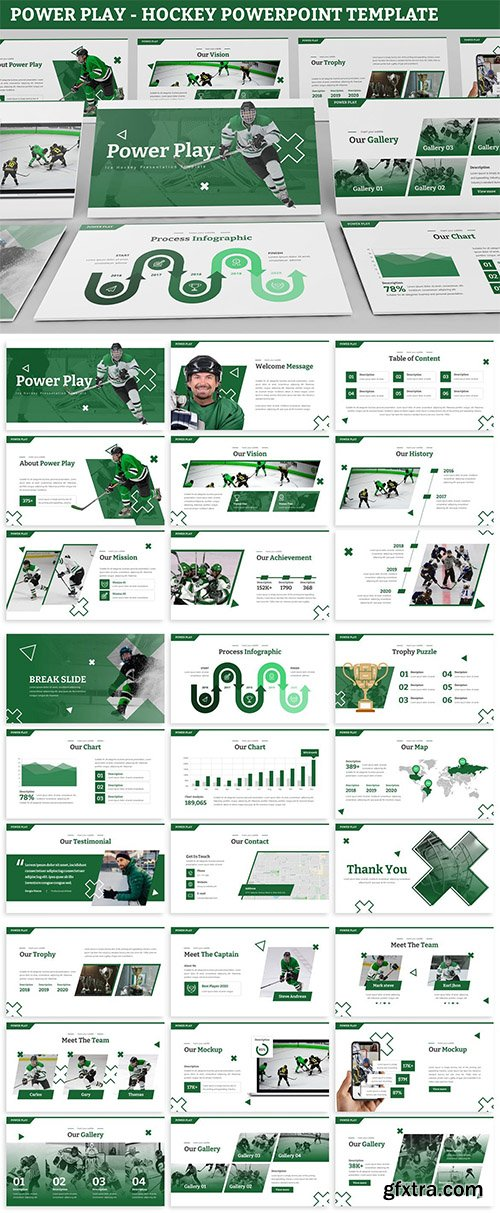 Power Play - Hockey Powerpoint Template