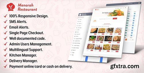 CodeCanyon - Menorah Restaurant v1.0.1 - Restaurant Food Ordering System - 23180351