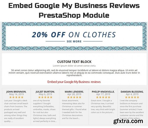 Embed Google My Business Reviews v1.0.11 - PrestaShop Module